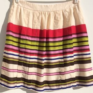 Ann Taylor LOFT skirt size 8 cream pink striped